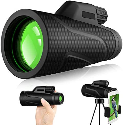 Monocular Telescope 12x42 High Definition Phission Monocular and Smartphone Holder Tripod Waterproof product image