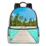 IUBBKI Mochila lateral negra Mochilas informales Boys Girls Red Hawaiian Flowers Backpack Casual Daypack with Padded Straps Friendly Laptop Backpack Cool Backpacks for Sports Outdoors Running