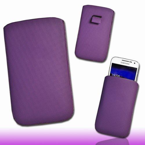 Handy Tasche Einschubtasche Etui Hülle Schutz lila / violett DK2 Gr.4 für Nokia Lumia 900 / Huawei Ascend D quad / Huawei Ascend D quad XL / Sony Xperia Ion / Huawei U9200 Ascend P1 / Samsung Galaxy S2 i9210 LTE / Samsung Galaxy Nexus / Base Lutea 2