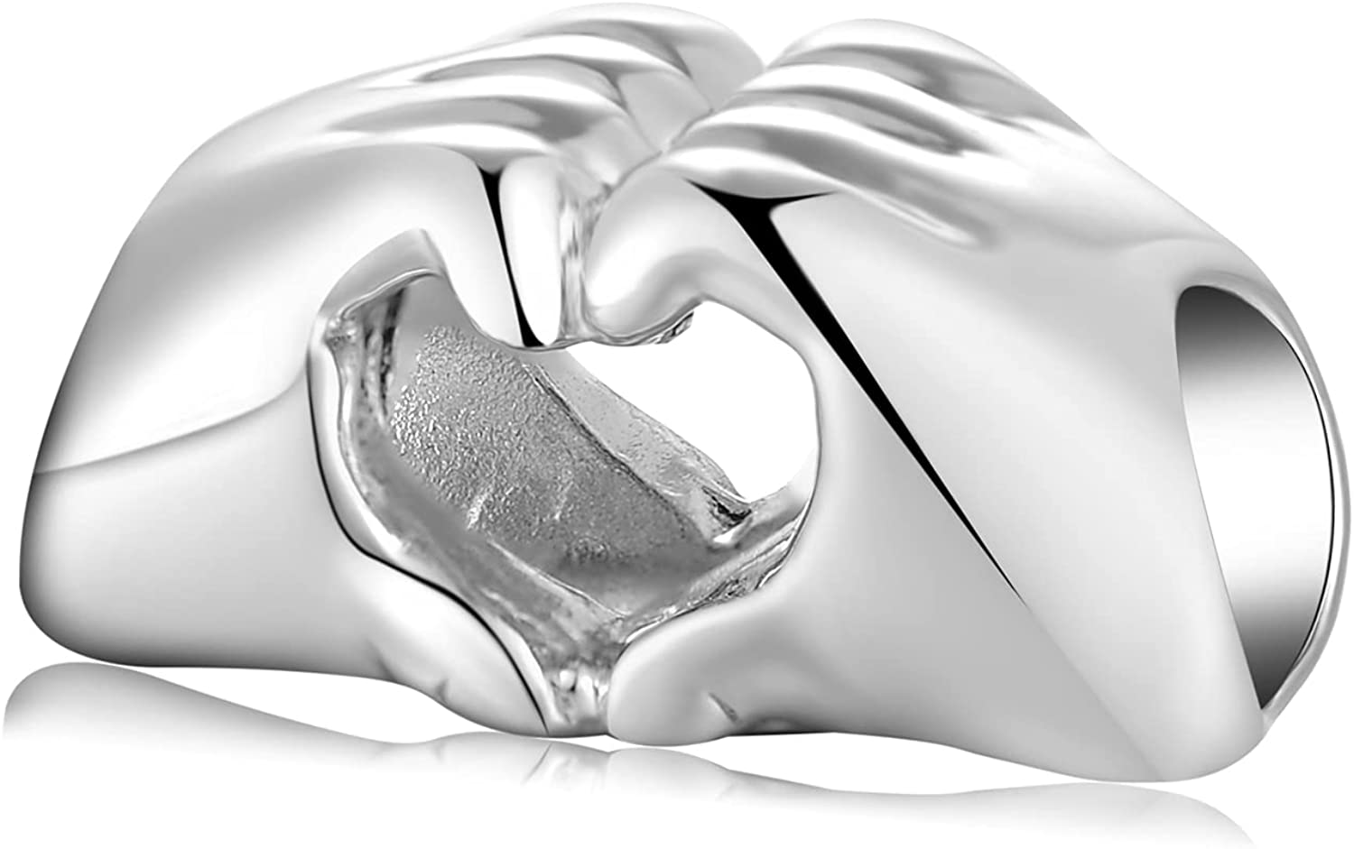 AIEGNOS Love Miami Mall Max 89% OFF Heart Charms for Sterling Silver Bracelet Charm 925