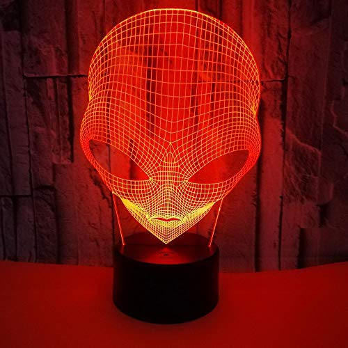 3D Lampe Mars Form Nacht Illusion Tischlampe AA Batterie/USB powered Touch-Schalter 7 Farben für Tischdekoration und Nachtdekoration