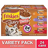 Purina Friskies Gravy Wet Cat Food Variety Pack, Extra Gravy Chunky - (24) 5.5 oz. Cans
