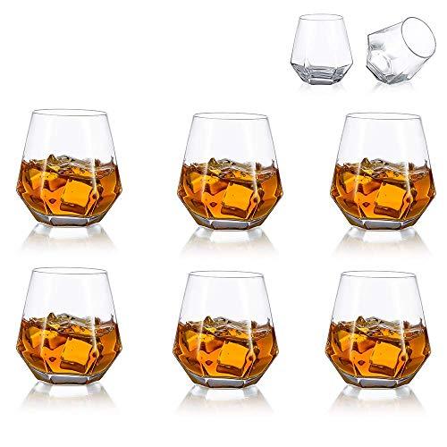 Juego De 6 Vasos De Whisky De Diamante Inclinados, Vaso De Whisky...