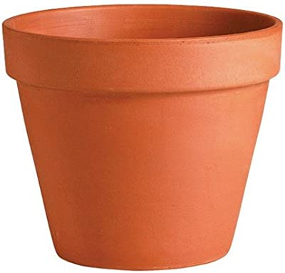 "Deroma 01110PZ 4"" Tc Std Clay Pot, Terra Cotta"