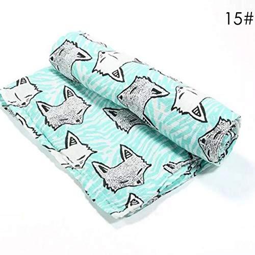 HaiQianXin Serviette de Bain Douche bébé Pur Coton Nouveau-né enveloppé de Tissu. (Color : Green Fox)