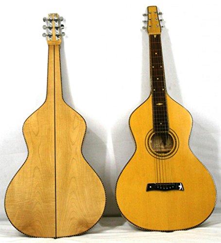 'Musikalia Gitarre Hawaiian Lap Steel Guitar Weissenborn Solide Akustikgitarre Style 4Copy in Ahorn-Geigenbauer