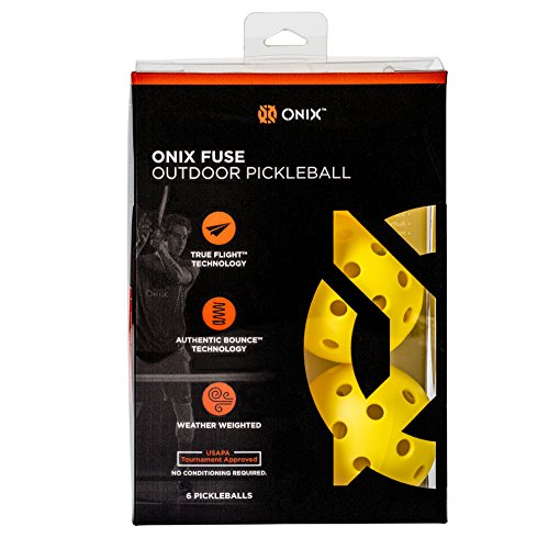 ONIX Fuse Outdoor Pickleball Balls – Six Pack