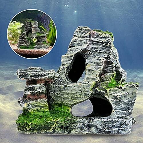 Aquarium Fish Tank Ornament 35% OFF Rockery Outlet sale feature Landscape Underw Cave Hiding