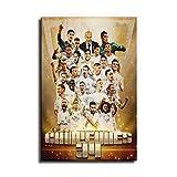 Real Madrid Campeon de liga 2020 Leinwand-Kunst-Poster und