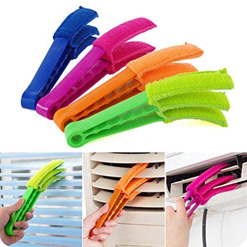 CAOLATOR Housewares Store vénitien à nettoyant Amovible, Lavable à la Main en Tissu en Microfibre pour Nettoyer à Sec ou mouillé Nettoyage des Lattes-Couleurs aléatoires