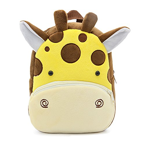 Bcony Carina Zaino per bambini, Mini Zoo giraffa Borse Zainetti per bambini Cartella per Ragazzini o ragazze