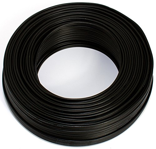 Lautsprecherkabel schwarz 2X 0,75mm² 25M Ring