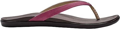 OLUKAI Wohommes Ho'Opio Leather Dark rouge Dark Java 7 B US B (M)