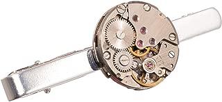 GRACEART Steampunk Watch Movement Tie Clip Lapel Pin