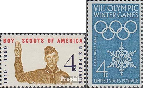 Prophila Collection EEUU 772,773 (Completa.edición.) 1960 Movimiento Scout Mundial, Olimpia (Sellos para los coleccionistas) Rotary/Lions/Francmasón/Pathfinder