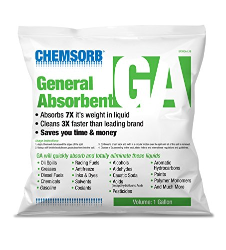 CHEMSORB GA - General Absorbent - 1 Gal. Bag, SP30GA-L1B, Universal Absorbent, Light Weight Spill Response. Silica Free, Absorb: Oil, Grease, Chemicals, Pesticides, Solvents, Diesel Fuel