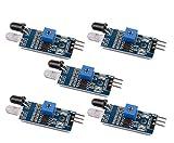 DAOKI 5 PCS IR Infrared Obstacle Avoidance Sensor Module for Arduino Smart Car Robot 3-wire