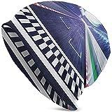 Ligne d'arrivée sur Piste de Course Motion Blur Compétition de Sport Automobile Stade Concept Image Mode de Noël Chaud Unisexe Bonnets Chapeau Casquette