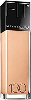 Maybelline New York Fit Me! Foundation, Buff Beige [130] 1 oz (Pack of 3)