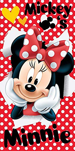 Jerry Fabrics 18TW232 Disney Minnie Maus Strandtuch Badetuch 70cm x 140cm
