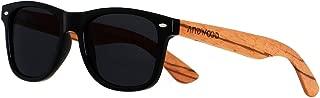 Wood Sunglasses Polarized for Men Women Uv Protection Wooden Bamboo Frame Mirrored Sun Glasses ANDWOOD SERRA
