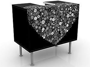 Apalis Mobile per lavandino di Design, Modello Cuore, 60x 55x 35cm, Larghezza 60 cm, Regolabile