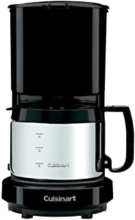 Conair Cuisinart WCM08B 4-Cup Coffeemaker Black with Stainless Steel Carafe