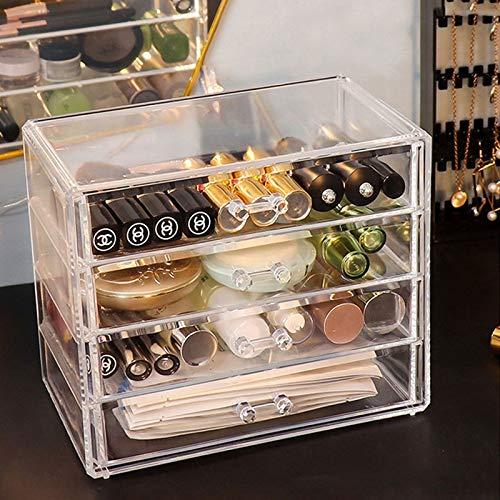 MUY Caja de Almacenamiento de uñas cosmética Organizador de Maquillaje Caja de Almacenamiento de Esmalte de uñas acrílico Transparente Caja de Almacenamiento de Joyas cajón