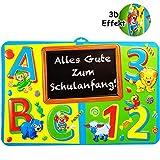 XL - 3D Effekt _ Schild / Dekoschild -  Alles Gute zum Schulanfang !  - 58 cm - Türschild / Wandbild - Bild / Deko Schultüte / Zuckertüte / Partydekoration ..