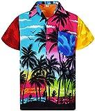 V.H.O. Funky Camicia Hawaiana, Mondy Beach, Multicolore, M