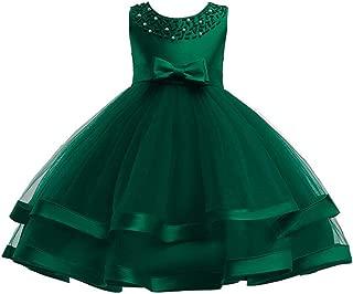 6M-9T Kids Pageant Flower Girl Dress Little Girls Party Wedding Formal Dresses