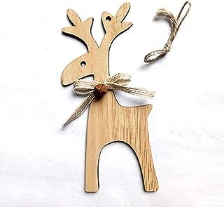 Guoshang Wooden Elk Hanging Pendants DIY Christmas Reindeer Party Home Decoration Ornaments
