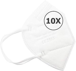 TBOC Mascarillas FFP2 - [Pack] Máscaras Desechables de Cinco Capas para Adultos [No Reutilizables] Transpirables Plegables...