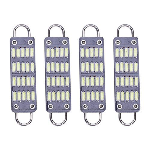 OVBBESS Bombilla LED de 44 mm de color blanco brillante, 20 Smd Rígido Loop 1.73 pulgadas interior cúpula mapa luces LED 561 562 567 564, paquete de 4