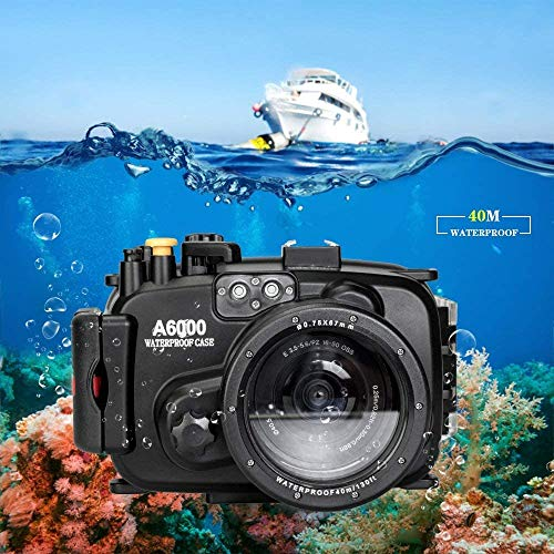 Sea frogs 130ft/40m Underwater Camera Housing Waterproof Case for Sony A6000 Can Be Used with 16-50mm Lens (Housing + Red Filter)