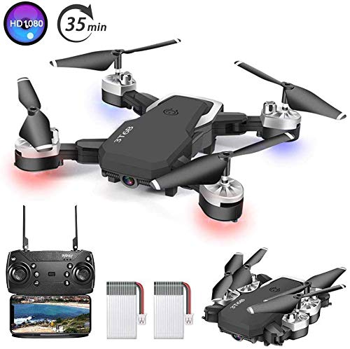 B-Qtech Drone with Camera, 1080P HD Drone for Kids & Adults & Beginners, Foldable WiFi RC Quadcopter Drone, 35 Min Long Flight Time, Live Video, Headless Mode, One Key Return