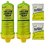 RESCUE! Reusable Yellowjacket Trap -2 Pack + 2 Four-Week Refills