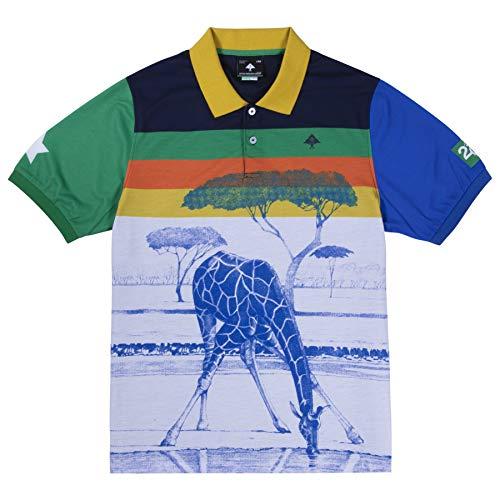 LRG Men's Logo Short Sleeve Collared Polo Shirt, Multi, S
