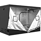 iPower 60'x120'x78' 5' x 10' Mylar Hydroponic Water-Resistant Grow Tent with Observation Window and Removable Floor Tray, Tool Bag for Indoor Plant Seedling, Propagation, Blossom, etc