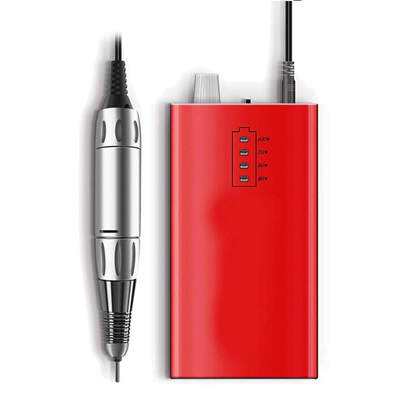 グローホールドオールホスト30000 rpmネイルマニキュアドリル機アクリル電動マニキュア装置ポータブルネイルアート機器装飾用ネイル、ピンク,赤