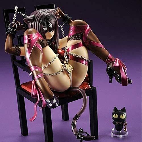 Gato y silla sexy niña anime acción figura modelo coleccionable estatua juguetes pvc figuras escritorio adornos de escritorio
