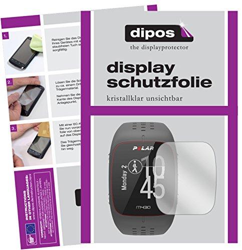 dipos I 6X Schutzfolie klar kompatibel mit Polar M430 Folie Bildschirmschutzfolie