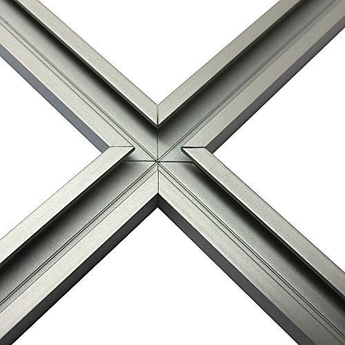 Kreuz aus Alu C-Profil eloxiert EV1 11 x 17 x 4,5 x 2 mm für M8 Schraube oder Mutter (Kreuz 4 Stck. á 11 cm)