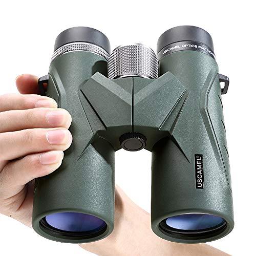 8X   10X Prismáticos Telescopio de Observación de Aves HD Alta Visión Nocturna Potente con Poca Luz para la Caza de Senderismo al Aire Libre,Green8X
