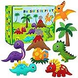 CiyvoLyeen Dinosaur Sewing Kit Dinosaur Felt Animal DIY Crafts for Girls and Boys Educational Sewing for Kids Art Craft Kits for Beginners