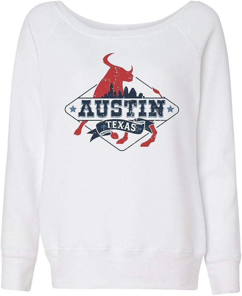 TeesAndTankYou Austin Max 59% OFF Texas Colorado Springs Mall Travel Wideneck Sweatshirt Womens