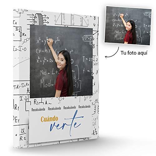 Fotoprix Lienzo Personalizado con Foto para Regalar a Tus Compañeras del Colegio | Regalo Original Amigos | Varios diseños y tamaños (Ganas de Verte, 30 x 40 cms)