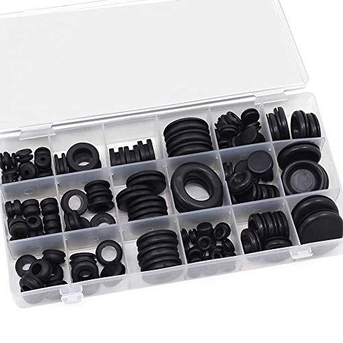 Gummi Durchgangstüllen, 125pcs Werkzeug-Set Gummikabel Sortiment Stecker eingegossenes Kabel Kit Schützen Plombendraht Conductor Elektrische 18 Größen Dichtring