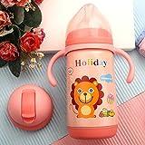 PPuujia - Tazza d'acqua per bambini, 300 ml, 2 utilizzi, con beccuccio morbido, con cannuccia, tazza di gravità, per acqua (colore: 300 ml, rosa 2 utilizzi)