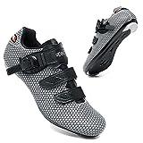 KUXUAN Zapatillas de Ciclismo para Hombre Zapatillas de Bicicleta de Carretera para Mujer Zapatos Peloton Compatibles...